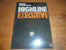 Prospekt Sales Brochure BMW 735i 745i Auto Car 1986 Wagen  автомобиль