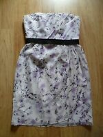 David's Bridal Women's Short Strapless Pleated Bridesmaid / Formal Dress Size 10