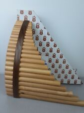 Grand Tenor Wood Pan flute- 22 pipes handcrafted by Brad White