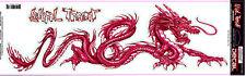 Lethal Threat Sticker Aufkleber XL Red Dragon Ideal für Auto und Truck Drachen
