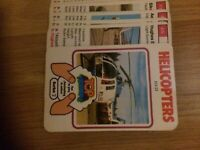 Top Trumps Helicopters - Single Cards to Purchase - Series 2 - Good Cond