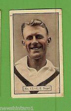 1934 - 1935 ALLEN'S CRICKET CARDS #17  L. E. NAGEL