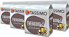 4 x Packs Tassimo Evergood Dark Roast T Discs Pods - 64 T Discs 64 Drinks