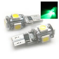 para VW 2x XENON VERDE 5SMD LED Luz Lateral W5W T10 501 sjsl1013g