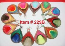 Wholesale of 12 pairs of Thread earring Assorted colors Medium Size 229B