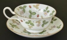 Wedgwood ~ Wild Strawberry ~ Peony Tea Cup & Saucer ~ 1st Made In England