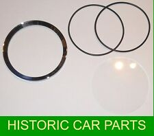 "Replacement 4"" Speedo Rev Counter Bezel Seals & Glass for MGA 1500 1955-59"