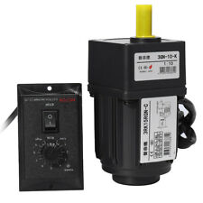 220V 15W AC Gear Motor :0 25RPM Electric Motor Variable Speed Controller  #