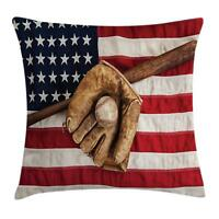 Sports Throw Pillow Cases Cushion Covers Ambesonne Home Decor 8 Sizes