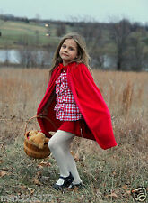 NEW Girl Child PRINCESS queen CAPE Medieval red ridding hood pretend dress up