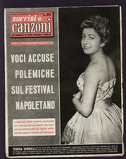 SORRISI 19/1957 FESTIVAL DI NAPOLI TORRIELLI CAROSONE ENZO TORTORA ZACHARIAS