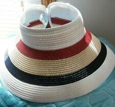 Magid Hats Open Crown Striped Wide Brim Paper Hat