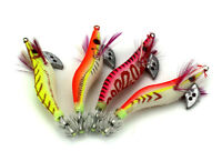1/4X Glow Shrimp Prawn Baits Squid Fishing Lures Jigs Hook Bait Tackle 8cm/8g GB