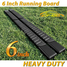 """For 2018 Ford F250 Superduty Crew Cab 6"""" Running Boards Nerf Bar Side Step BLK H"""