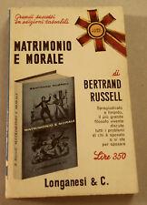 1966c = MATRIMONIO MORALE  = BERTRAND RUSSEL..LONGANESI  EDITORE..ETNA