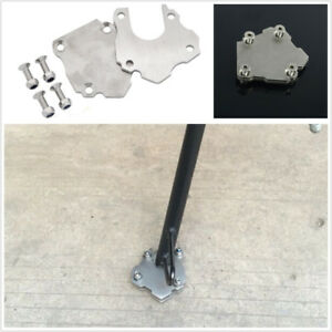 Motorcycle Bike Stainless Steel Side Kickstand Stand Extension Plate Stand Foot