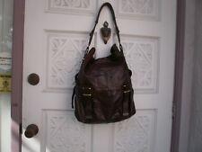 BCBGMAXAZRIA  SOFT BROWN LEATHER Shoulder Bag Tote HOBO Purse