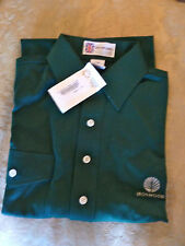 Ironwood Country Club  Golf Shirt Forest Green 100% Cotton  New w/ Tags  Logo S