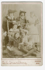 c1890 Theater Group Portrait, Henning, Minnesota by A.E. Strandberg Cabinet Card