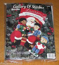 1994 Bucilla Christmas Stocking Kit Joy To The World Santa and Children