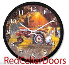 New INTERNATIONAL FARMALL Tractor Wall Clock DAVE BARNHOUSE Farm The Rematch