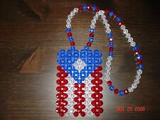 *Handmade* Puerto Rico Rican Flag for your car's rearview mirror, necklace, or ?