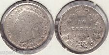 SUPERFLEAS 1892 Canadian 10 cents dime with wide 1 & small 9 variety