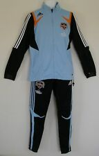 RARE~Adidas HOUSTON DYNAMO~TRACK SUIT Jacket jersey soccer sweat shirt Pant~sz S