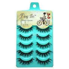 5 Pairs/Lot Real Mink Makeup Handmade Long Natural Eye Lashes False Eyelashes