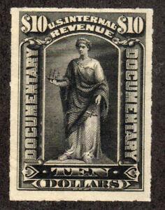 1898 US SC R176 Revenue $10 Black, Roulette - MNG VF/XF
