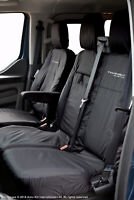 Ford Transit Custom MY18 onward INKA Tailored Waterproof Front Seat Covers Black