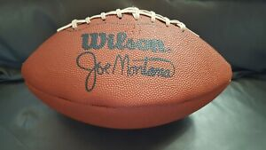 Vintage 1980's JOE MONTANA 49ERS AUTOGRAPHED WILSON FOOTBALL ~Factory Signed