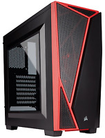 Corsair Carbide Series SPEC-04 ATX Mid Tower Desktop PC Gaming Case Black Red