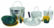 Texsport 16 Piece Heavy-Duty Aluminum Four 4 Person Camping Outdoor Cook Set