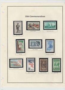 U.S. 1964 Commemorative Year Set, 19 items (2 scans) Complete, mNH Fine