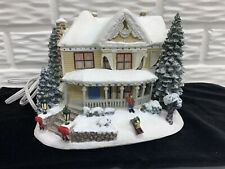 "Thomas Kinkade 2001 ""Victorian Homestead� Hawthorne Village Lighted House"