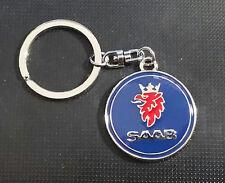 SAAB llavero Logotipo AÑOS 90 Año esmaltado - dimensiones de Emblema 36mm