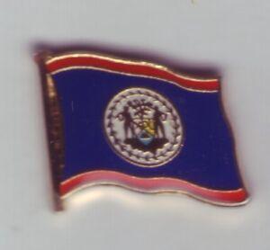 Belize Flag Pin, Flag, Pin, Badge, Label, Pin