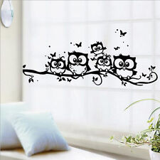 Kids Nursery Room Vinyl Art Cartoon Owl Butterfly Wall Sticker Decor Home Decal