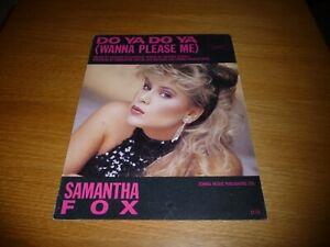 SAMANTHA FOX DO YA DO YA ORIGINAL UK 1986 SHEET MUSIC