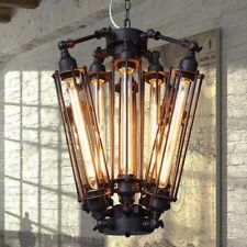 8 lights Industrial Metal Steampunk Chandelier Edison Bulb Pendant Hanging Lamp