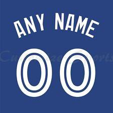 Béisbol Toronto Blue Jays Azul Jersey número Personalizado Kit sin costura
