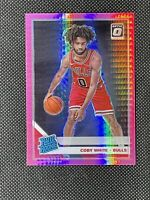 2019-20 Donruss Optic Rated Rookie Coby White Rookie Hyper Pink Prizm #180 Bulls