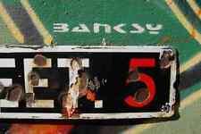 Banksy tag street 5 A4 signe aluminium métal