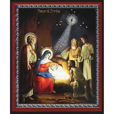 Nativity Icon, Jesus, Mary, Joseph, Shepherds, an Authentic Russian Icon