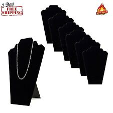 Necklace Jewelry Display 6ps Bust Pendant Show Case Mannequin Easel Holder Stand