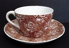 Antique Cup and Saucer Ceramic England Rd No 58106 W & Co Hanley 1886