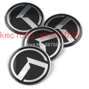 3D K Logo Wheel Center Caps Hub Emblem Badge 4pcs For KIA 2010-2013 Forte Koup