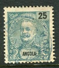 PORTUGUESE ANGOLA;  1898 early Carlos issue fine used 25r. value