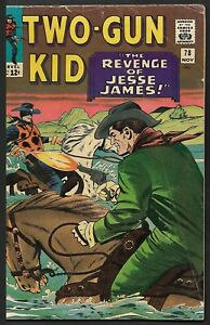 "1965 Bronze Age Marvel Comics Two-Gun Kid #78 ""The Revenge Of Jesse James"" GV/VG"